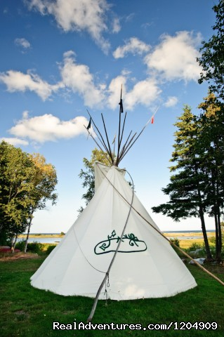Tipi (#4 of 22) - Cabot Shores Wilderness Resort