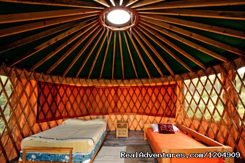 Inside the Yurt - Cabot Shores Wilderness Resort