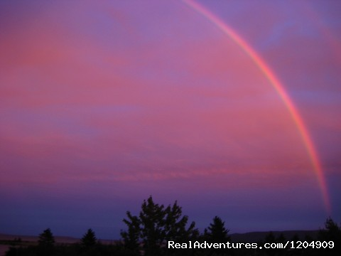 Rainbow from Lodge Deck - Cabot Shores Wilderness Resort