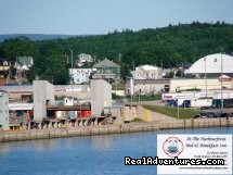 View from NL ferry approach (#2 of 5) - B&B Inn overlooking the gateway to Newfoundland