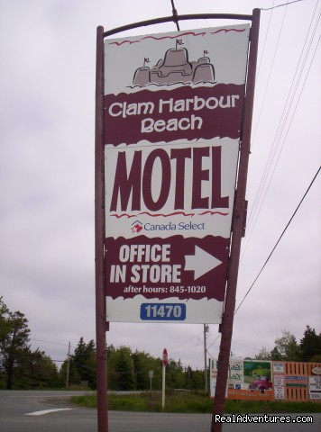 Look For This Sign - Clam Harbour Beach Motel