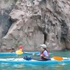 Ocean cliffside kayak tour