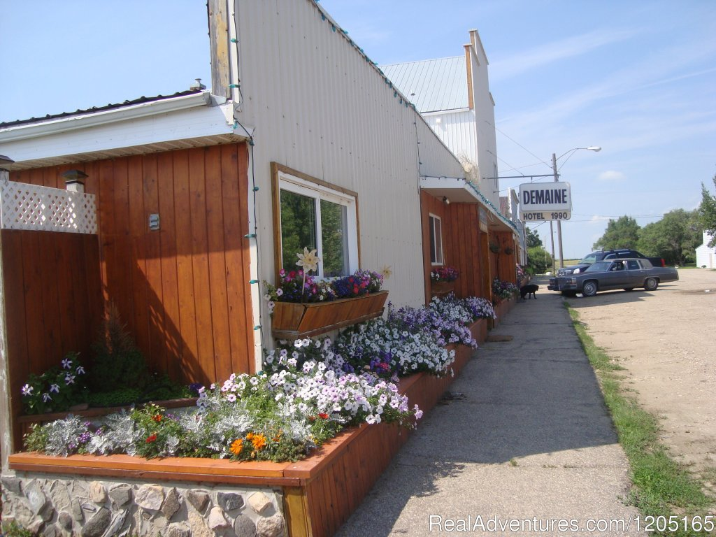 Modern Accommodation, Scenic area, Hunting and Fishing, Full Service Restaurant and Beverage Room located in the Hamlet of Demaine, SK.