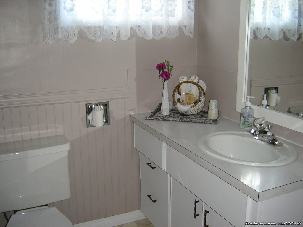 Backroads B & B, Guest House Bathroom | Image #8/11 | Guest House At Backroads Bed & Breakfast
