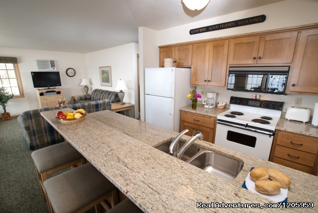 Updated Kitchens all have granite counters - Bay Shore Inn