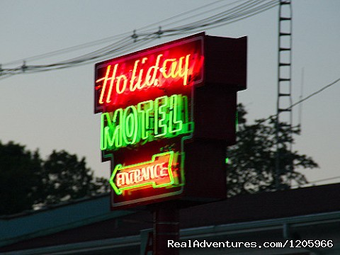 Our iconic neon sign. - Holiday Music Motel