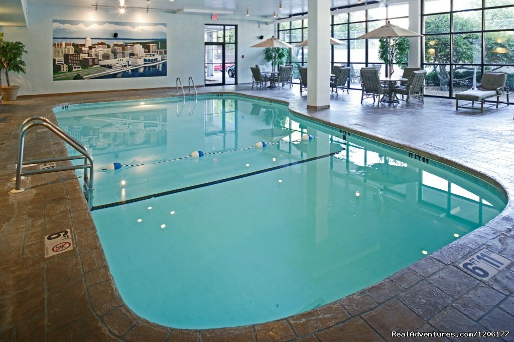 Indoor Pool with outdoor deck | Image #6/7 | Doubletree by Hilton Madison Downtown