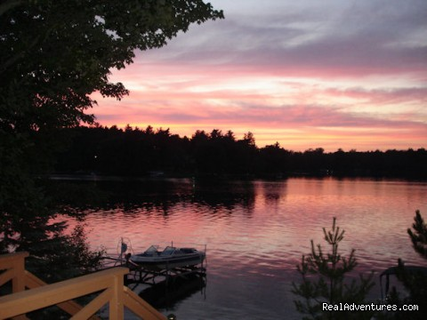 Sunset on the dock: Sill's Lakeshore B&B Resort