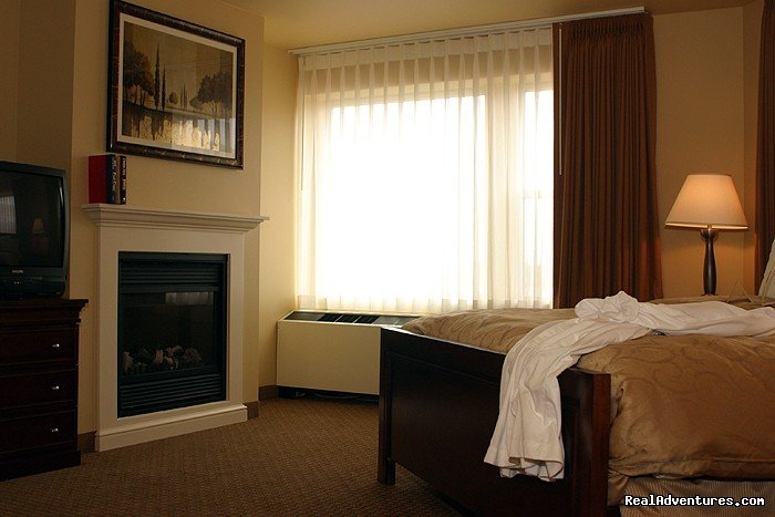 Bedroom fireplace North Ultimate Suite | Image #6/15 | The Jefferson Street Inn - Comfortable Elegance!