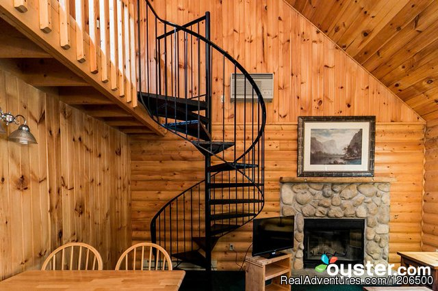 Duplex Loft Interior - Wooded Log Cabins at Birchcliff Resort