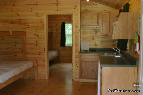 Deluxe cabin Interior - Al's Fox Hill RV Park & Campground