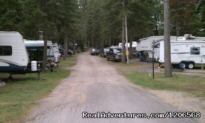 Large RV spots by the lake - Arbor Vitae Campground