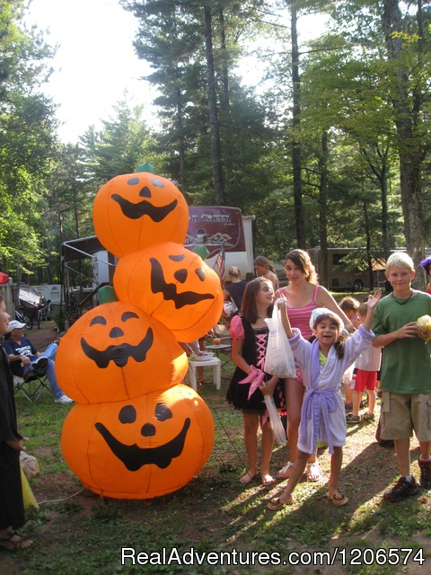 Halloween in August - Chain-O-Lakes Campground