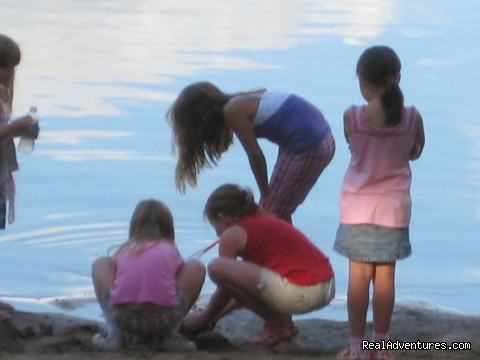 Children on Beach - Patricia Lake Campground