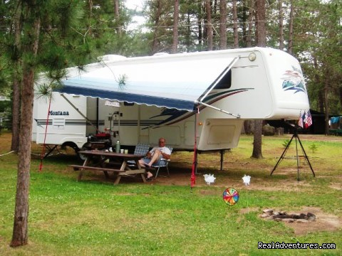 Full hookup site - Patricia Lake Campground