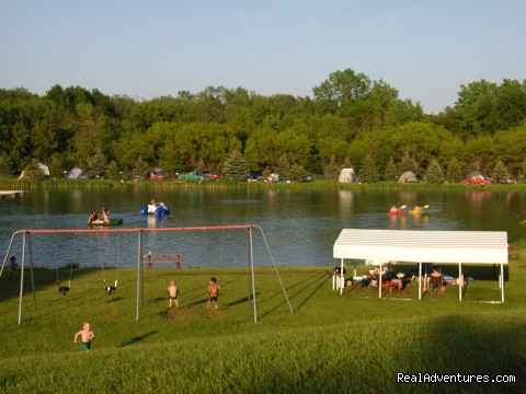 Family Camping Fun at Happy Acres Kampground Campgrounds & RV Parks Bristol, WI, Wisconsin