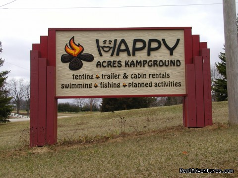 entrance sign  - Happy Acres Kampground