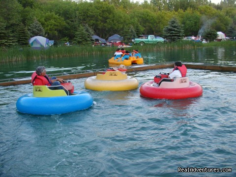 bumper boats - Happy Acres Kampground