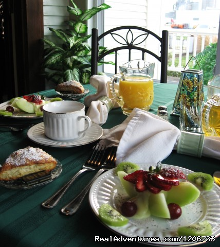 Breakfast on the Dining Porch - Dickey House B&B