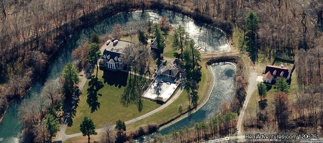 Aerial View of the Property - Inn on Crescent Lake