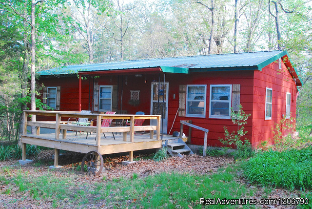 Indian House Bluff Cottage - Rock Eddy Bluff Farm, escape into the ozark hills