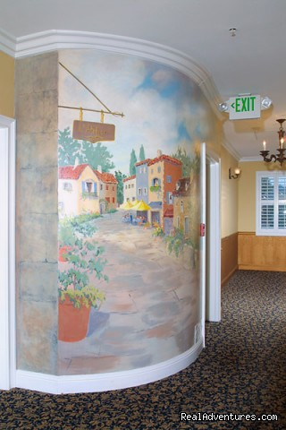 Wall Mural in 2nd Floor Hall - Bel Abri - A French Country Inn