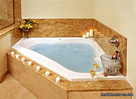 Relax in the Massage Tub with Free Bath Salts - Bel Abri - A French Country Inn