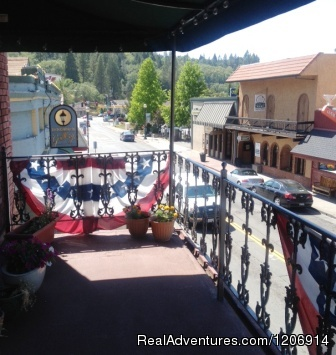 Experience historic stay in Calif. Gold Country 2nd Floor Balcony