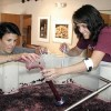 Deb & Annamarie testing grape sugars at Idle Hour Winery
