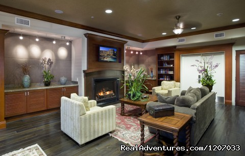 Our library/living area - West Inn & Suites