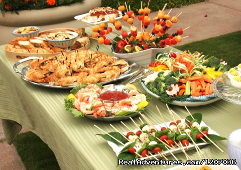 Yummy snacks for party in the courtyard - The 1906 Lodge at Coronado Beach