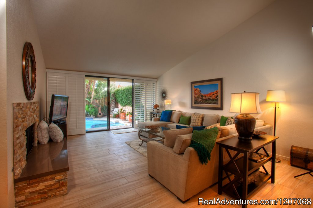 Private Heated Pool & Spa Villa in Palm Springs | Image #2/8 | Sinful Seclusion in Uptown- Palm Springs TOT3100