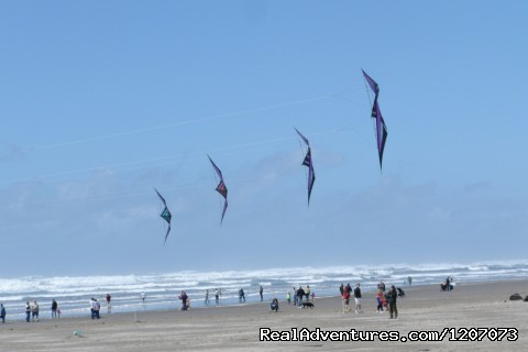 Kite flying on the Seaside Beach - Seaside Visitors Bureau