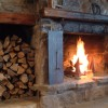 Real wood-burning fireplaces