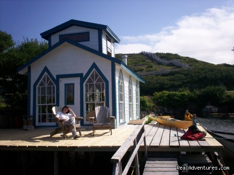 lounging on the wharf head. - Burgeo Haven Inn on the Sea Bed & Breakfast