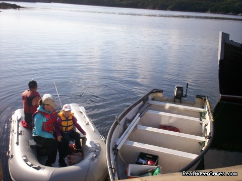 unloading at the dock side. - Burgeo Haven Inn on the Sea Bed & Breakfast