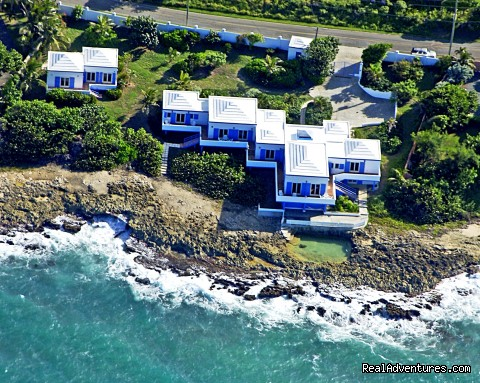 Aerial View of Villa and Cottage - SeaViewPlay  New Pool & Fabulous Ocean Front Villa