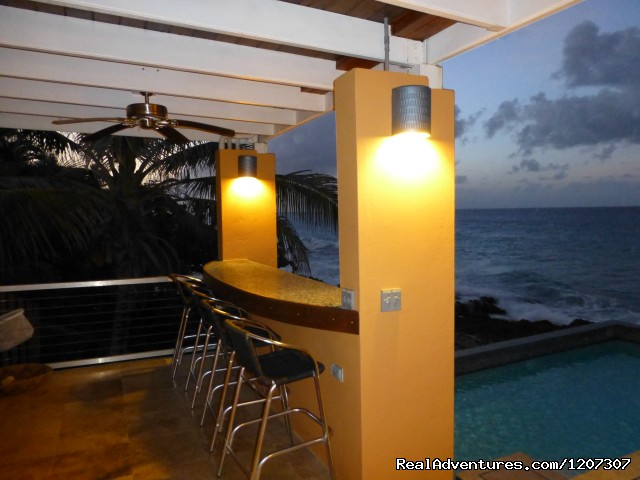 Drinks at the Bar overlooking the pool and ocean - SeaViewPlay  New Pool & Fabulous Ocean Front Villa