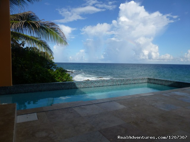 The Pool on the deck - SeaViewPlay  New Pool & Fabulous Ocean Front Villa