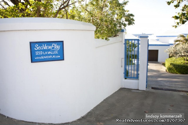Enter SeaViewPlay through Blue Gates - SeaViewPlay  New Pool & Fabulous Ocean Front Villa