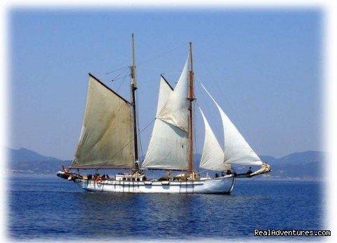 SAIL aboard AUTHENTIC 1875 Schooner & in the Med