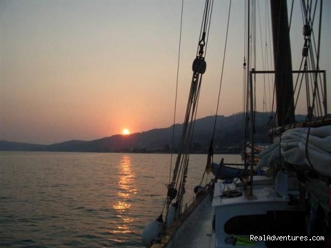 underway in Greece - SAIL aboard AUTHENTIC 1875 Schooner & in the Med