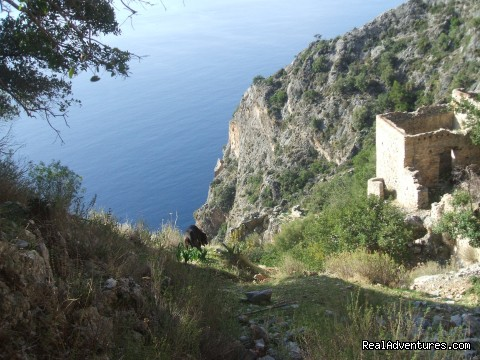 Sea view from Afkule monastry - Hiking in Kayakoy, Turkey: the Spirit of Lycia