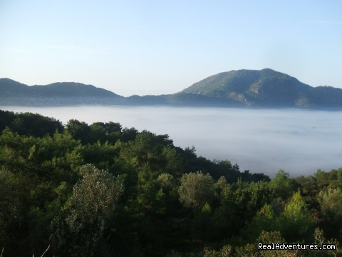 Morning Fog over Kayakoy (#18 of 24) - Hiking in Kayakoy, Turkey: the Spirit of Lycia