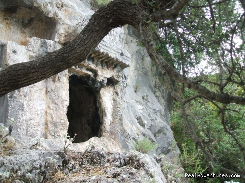 Lycian tomb in the forest (#24 of 24) - Hiking in Kayakoy, Turkey: the Spirit of Lycia