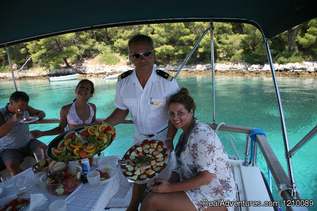 Lunch service on our yacht - Croatia-Tailor Made Holiday Packages