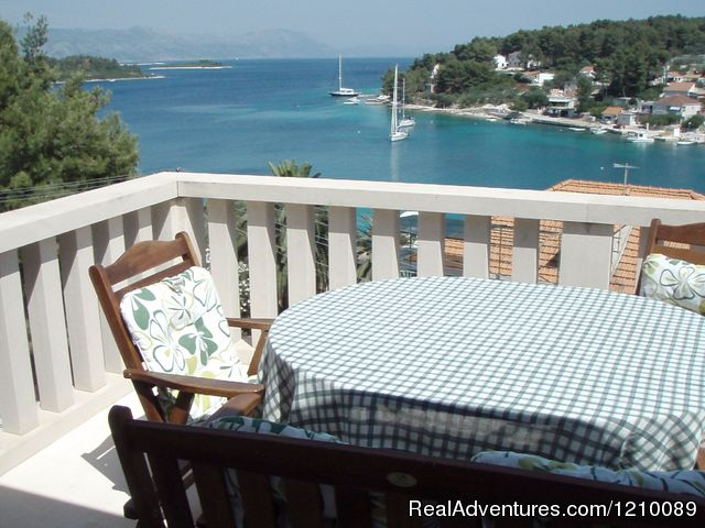 Balcony view from our Villa - Croatia-Tailor Made Holiday Packages