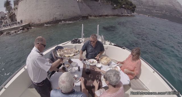 Lunch service near old town city walls of  Korcula - Croatia-Tailor Made Holiday Packages