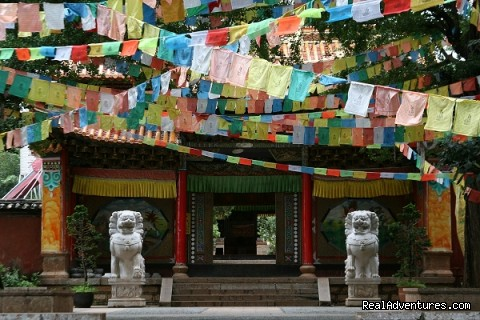 zhiyun temple(lamasary), nearby lijiang, yunnan, china - China Bike Tours, Tour de China