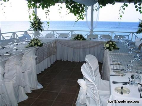 Beachfront Terrace Reception Tropical Weddings Jamaica